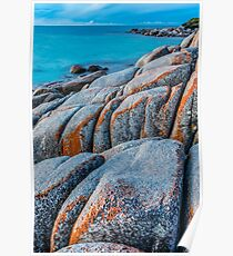 Beautiful Bay Of Fires on the North-East Coast of Tasmania. Poster