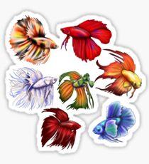 Betta fish v2 Sticker