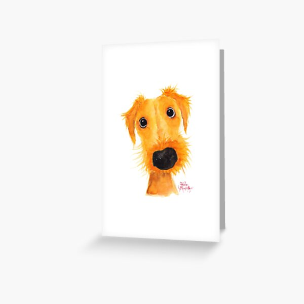 Nosey Dog Terrier ' JACKSONVILLE MUTTLEY ' by Shirley MacArthur Greeting Card