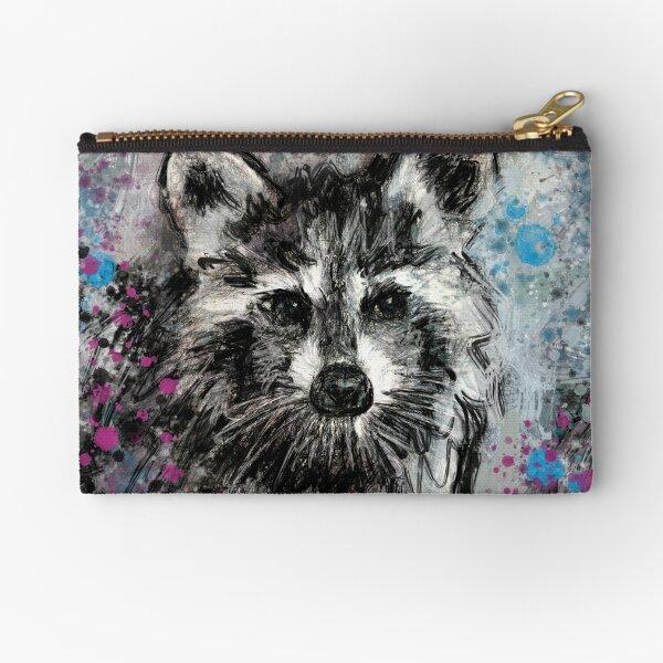 Expressive Raccoon Zipper Pouch