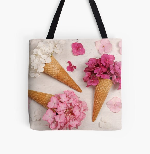 Floral ice creams All Over Print Tote Bag