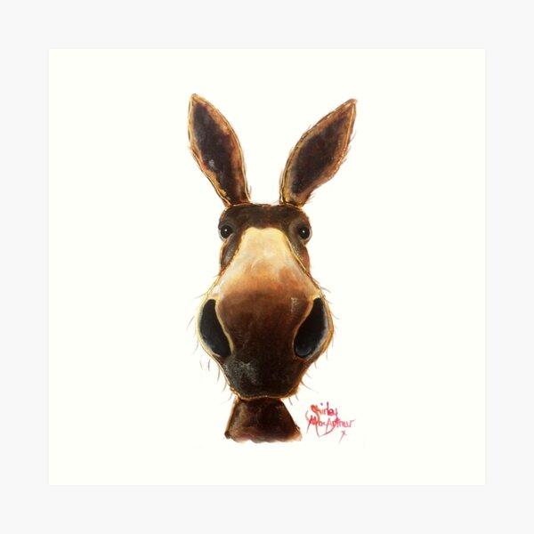 Happy Donkey ' TEDDY ' by Shirley MacArthur Art Print