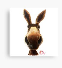 Happy Donkey ' TEDDY ' by Shirley MacArthur Canvas Print