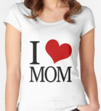 I Heart Mom Women's Fitted Scoop T-Shirt