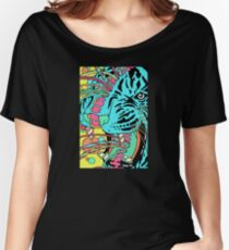 Psychedelic Tiger Women's Relaxed Fit T-Shirt