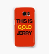 Gold Jerry Seinfeld Quotes Tv Show Samsung Galaxy Case/Skin