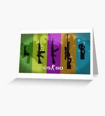 CS:GO Guns Greeting Card