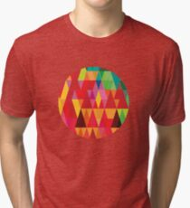 Colourful Triangle Hipster Pattern Tri-blend T-Shirt