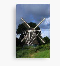 Windmill In Dutch Countryside Canvas Print