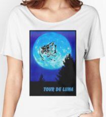 TOUR DE LUNA : Fantasy Bicycle Racing Print Women's Relaxed Fit T-Shirt