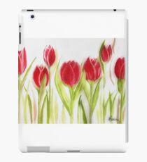 Elegant red Tulips iPad Case/Skin