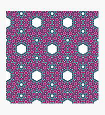 FLORAL ANDALUSIAN TILE Photographic Print
