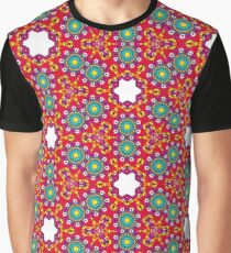 RED AND GREEN KALEIDOSCOPE Graphic T-Shirt