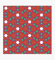 RED AND GREEN KALEIDOSCOPE Photographic Print