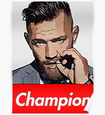 CONOR MCGREGOR T-SHIRT CHAMPION Poster