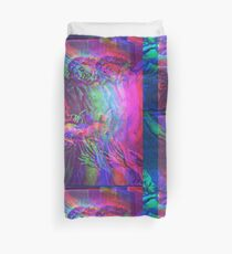 Violet Christ Engraving Glitch Version Duvet Cover