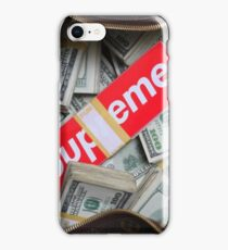 supreme money  iPhone Case/Skin