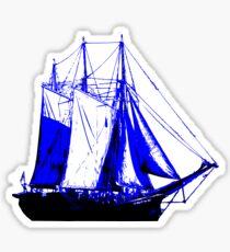 Blue Sail Boat Sticker