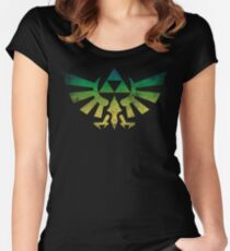 The Force Legend. Triforce vintage Women's Fitted Scoop T-Shirt