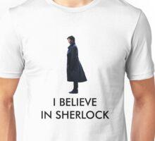 I Believe in Sherlock - White Unisex T-Shirt