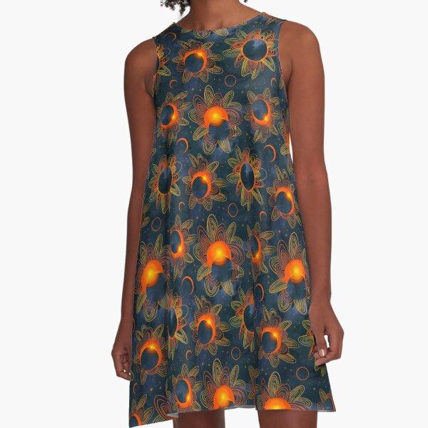 Sonnenfinsternis A-Linien Kleid