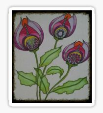 Abstract Tulips Sticker