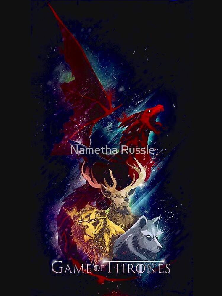 Dragón de los tronos seriales de Nametharussle