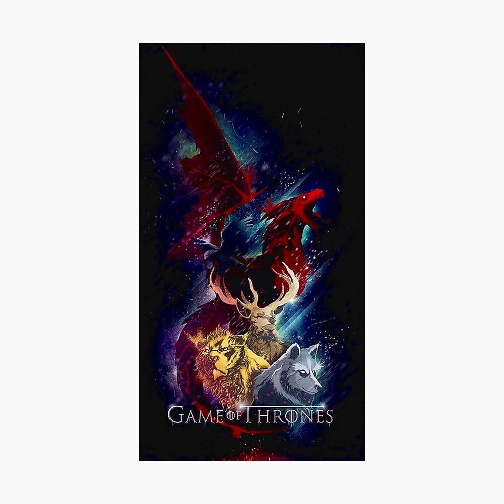 Dragón de los tronos seriales Lámina fotográfica