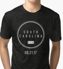 USA South Carolina Solar Eclipse 2017 Tri-blend T-Shirt