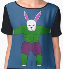 Bunny dressups - Incredibly Hulking Bun Women's Chiffon Top