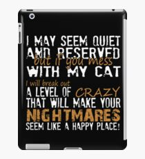 Angry Cat Lady iPad Case/Skin