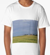 """Windmills and Wheat Fields"" Long T-Shirt"