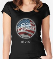 USA South Carolina Solar Eclipse 2017 Women's Fitted Scoop T-Shirt