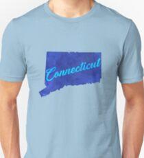 Connecticut - Blue Watercolor T-Shirt