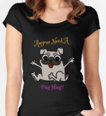 Anyone need a Pug Hug Color Women's Fitted Scoop T-Shirt