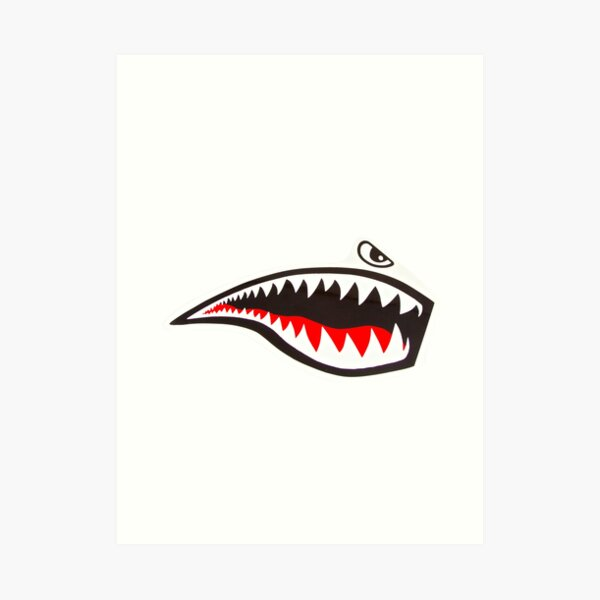 Tiger Shark - mirror Art Print
