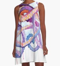Tintenfisch II A-Linien Kleid