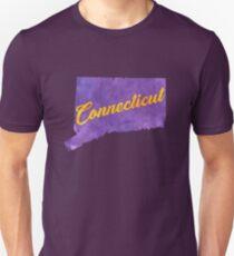 Connecticut - Purple Watercolor T-Shirt