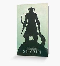 Skyrim DragonBorn Poster Greeting Card