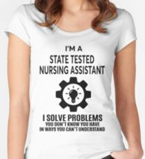 STATE TESTED NURSING ASSISTANT - NICE DESIGN 2017 Women's Fitted Scoop T-Shirt