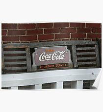 Old fashion bench advertising  Poster