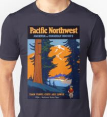 Pacific North West, vintage travel poster T-Shirt