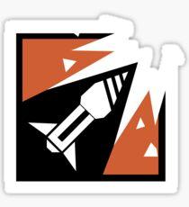 R6 Ash Icon Sticker