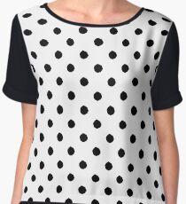Hand drawn artistic polka dots Women's Chiffon Top