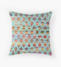 Blue Turkish Baklava Throw Pillow