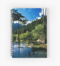 Mountain Forest Lake Spiral Notebook