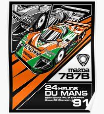 Mazda 787B - '91 Du Mans Champion Poster