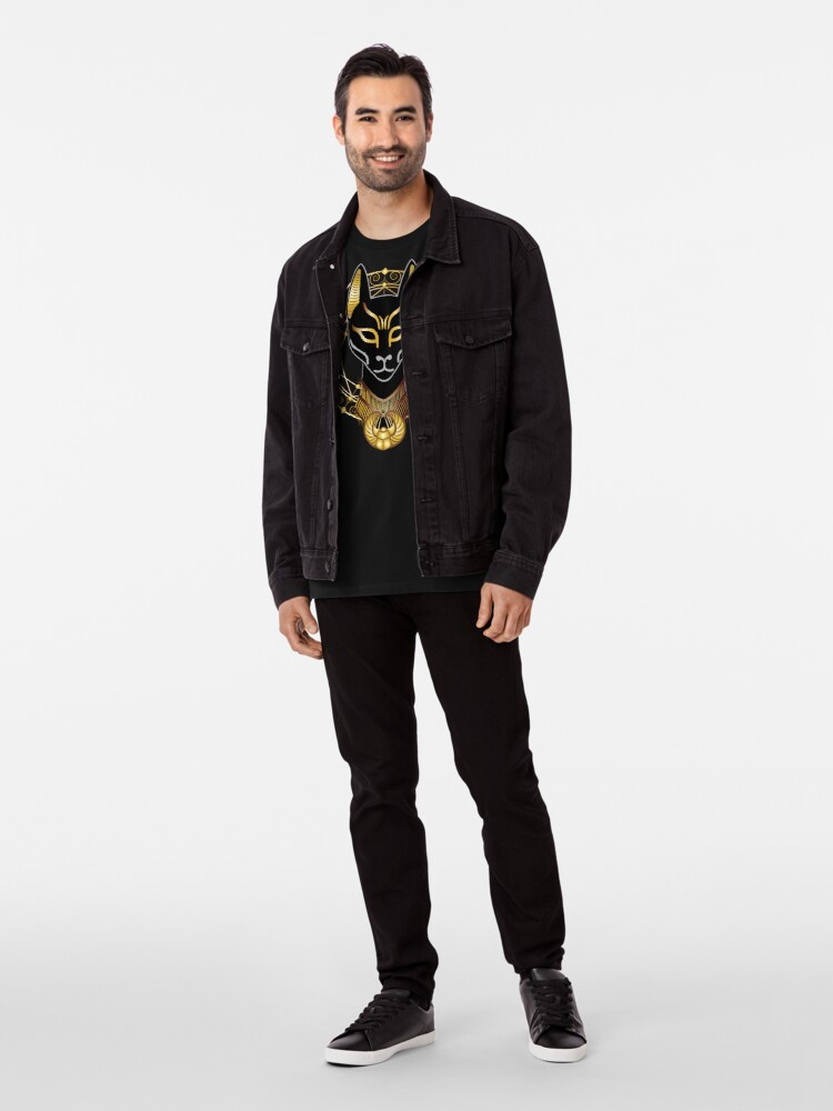 Alternate view of Golden Bastet Premium T-Shirt