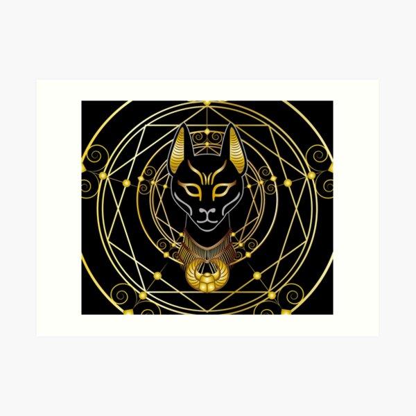 Golden Bastet Art Print