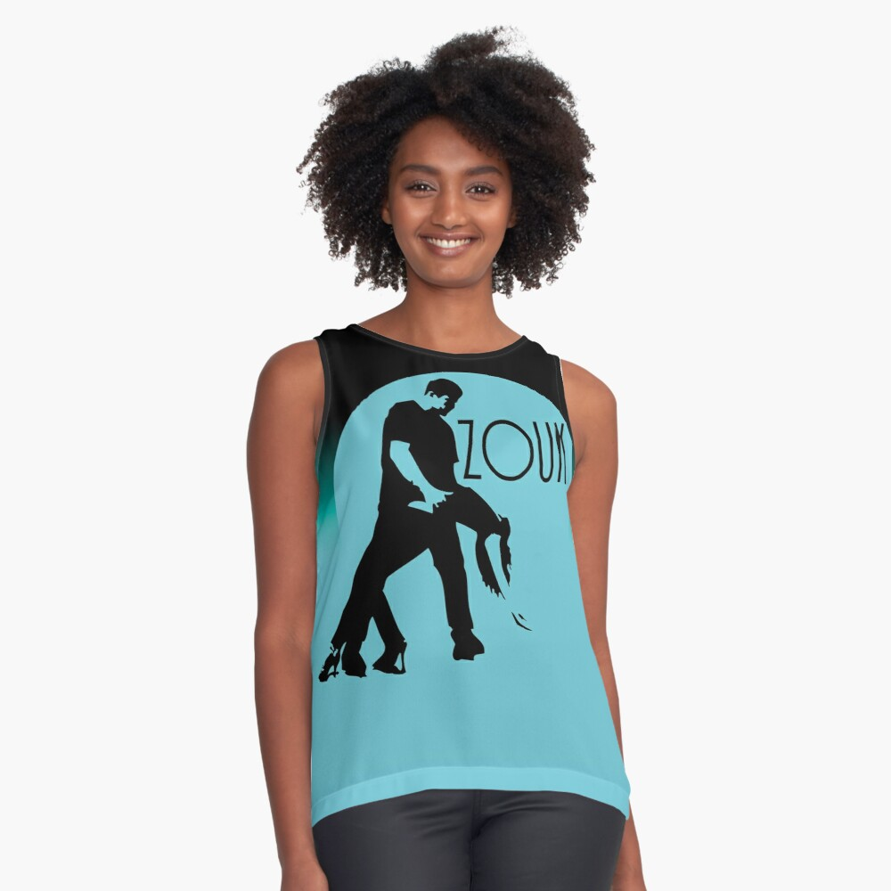 ZOUK - blue moon Contrast Tank Front